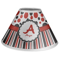 Red & Black Dots & Stripes Coolie Lamp Shade (Personalized)