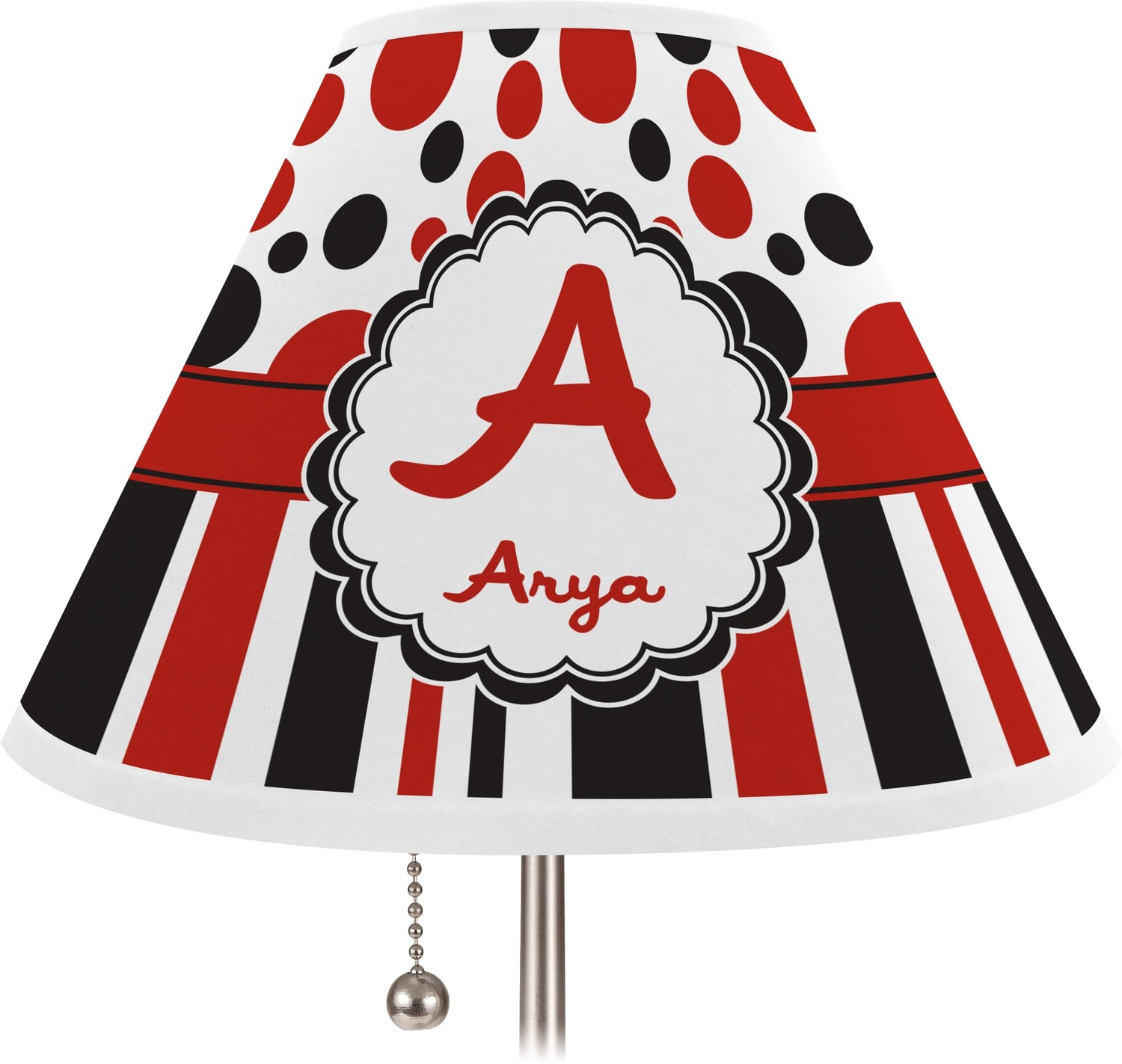 red black dots stripes lamp shade medium personalized you. Black Bedroom Furniture Sets. Home Design Ideas