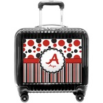 Red & Black Dots & Stripes Pilot / Flight Suitcase (Personalized)