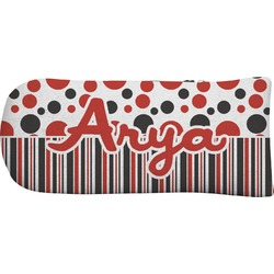 Red & Black Dots & Stripes Putter Cover (Personalized)