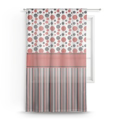 Red & Black Dots & Stripes Sheer Curtains (Personalized)