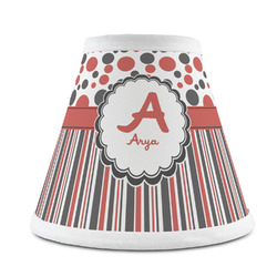 Red & Black Dots & Stripes Chandelier Lamp Shade (Personalized)