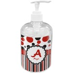 Red & Black Dots & Stripes Soap / Lotion Dispenser (Personalized)
