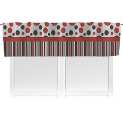 Red & Black Dots & Stripes Valance (Personalized)