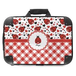 Ladybugs & Gingham Hard Shell Briefcase (Personalized)