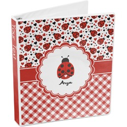 Ladybugs & Gingham 3-Ring Binder (Personalized)