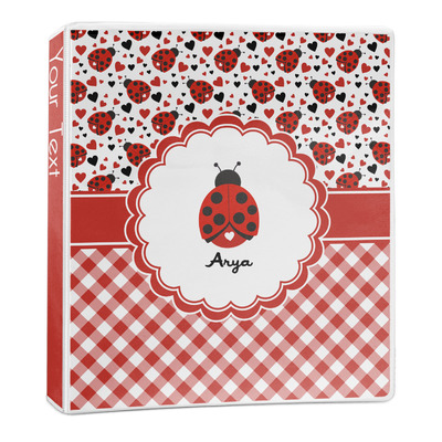 Ladybugs & Gingham 3-Ring Binder - 1 inch (Personalized)
