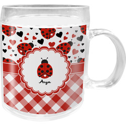 Ladybugs & Gingham Acrylic Kids Mug (Personalized)