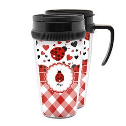 Ladybugs & Gingham Acrylic Travel Mugs (Personalized)