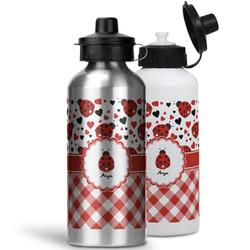 Ladybugs & Gingham Water Bottles- Aluminum (Personalized)