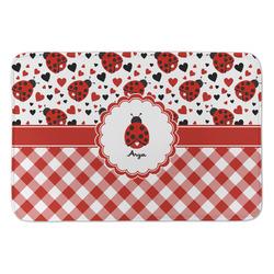 Ladybugs & Gingham Anti-Fatigue Kitchen Mat (Personalized)