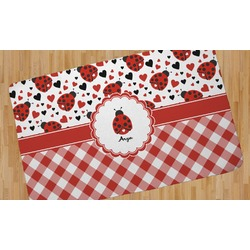 Ladybugs & Gingham Area Rug (Personalized)