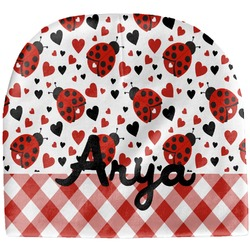 Ladybugs & Gingham Baby Hat (Beanie) (Personalized)