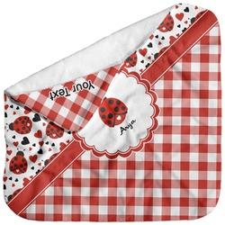 Ladybugs & Gingham Baby Hooded Towel (Personalized)