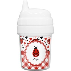 Ladybugs & Gingham Baby Sippy Cup (Personalized)