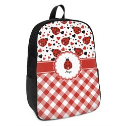 Ladybugs & Gingham Kids Backpack (Personalized)