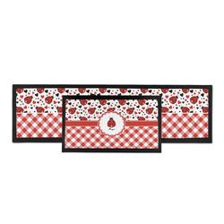 Ladybugs & Gingham Bar Mat (Personalized)
