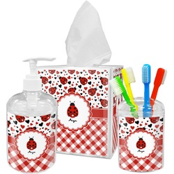 Ladybugs & Gingham Bathroom Accessories Set (Personalized)