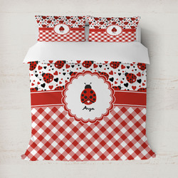 Ladybugs & Gingham Duvet Covers (Personalized)
