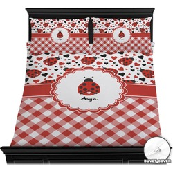 Ladybugs & Gingham Duvet Cover Set (Personalized)