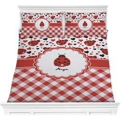 Ladybugs & Gingham Comforter Set (Personalized)