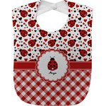 Ladybugs & Gingham Baby Bib (Personalized)