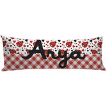 Ladybugs & Gingham Body Pillow Case (Personalized)