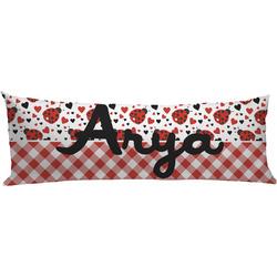 Ladybugs & Gingham Body Pillow Case (Personalized)