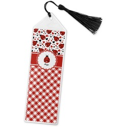 Ladybugs & Gingham Book Mark w/Tassel (Personalized)