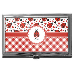 Ladybugs & Gingham Business Card Case