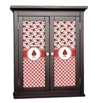 Ladybugs & Gingham Cabinet Decal - Custom Size (Personalized)