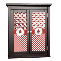 Ladybugs & Gingham Cabinet Decal - Custom Size (Personalized)