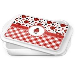 Ladybugs & Gingham Cake Pan (Personalized)