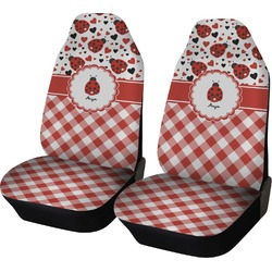 Ladybugs & Gingham Car Seat Covers (Set of Two) (Personalized)