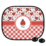 Ladybugs & Gingham Car Side Window Sun Shade (Personalized)