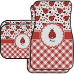 Ladybugs & Gingham Car Floor Mats (Personalized)