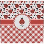 Ladybugs & Gingham Ceramic Tile Hot Pad (Personalized)