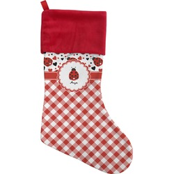 Ladybugs & Gingham Christmas Stocking (Personalized)