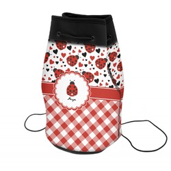 Ladybugs & Gingham Neoprene Drawstring Backpack (Personalized)