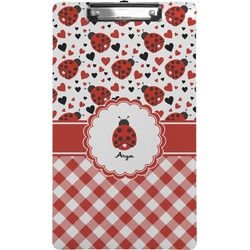 Ladybugs & Gingham Clipboard (Legal Size) (Personalized)