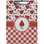 Ladybugs & Gingham Clipboard (Personalized)