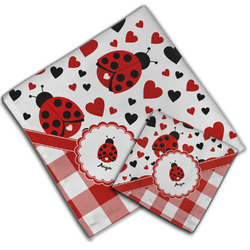 Ladybugs & Gingham Cloth Napkin w/ Name or Text