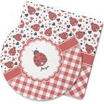 Ladybugs & Gingham Rubber Backed Coaster (Personalized)