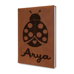 Ladybugs & Gingham Leatherette Journal (Personalized)