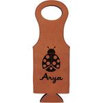 Ladybugs & Gingham Leatherette Wine Tote (Personalized)