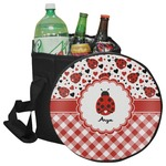 Ladybugs & Gingham Collapsible Cooler & Seat (Personalized)