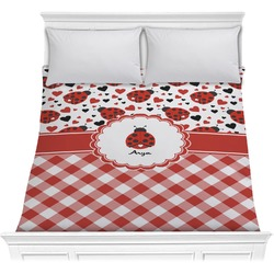 Ladybugs & Gingham Comforter (Personalized)