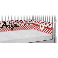 Ladybugs & Gingham Crib Bumper Pads (Personalized)