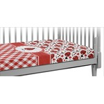 Ladybugs & Gingham Crib Fitted Sheet (Personalized)