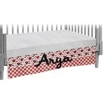 Ladybugs & Gingham Crib Skirt (Personalized)